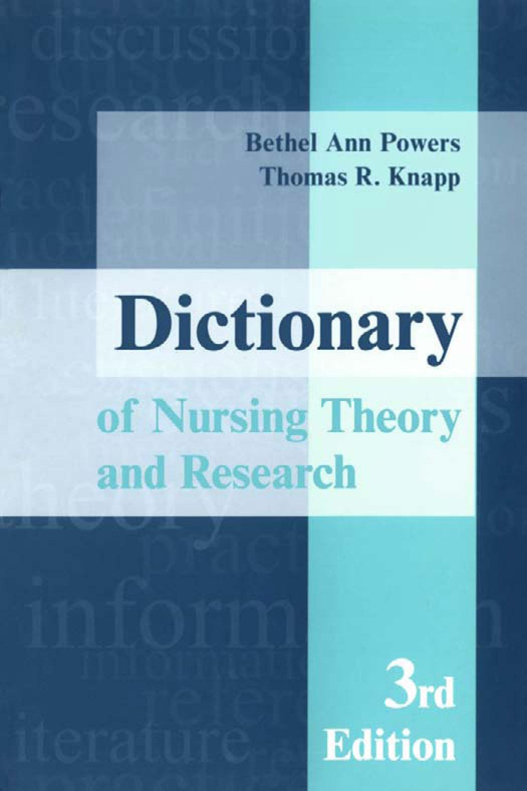 Dictionary of Nursing Theory and Research EB9780826117731