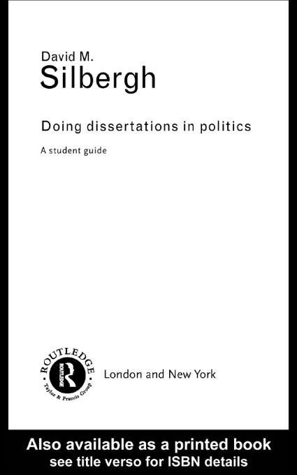 Doing Dissertations in Politics EB9780203453117
