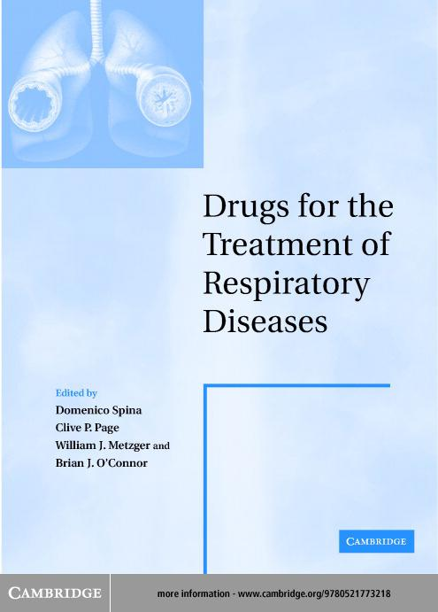 Drugs for the Treatment of Respiratory Diseases EB9780511060472