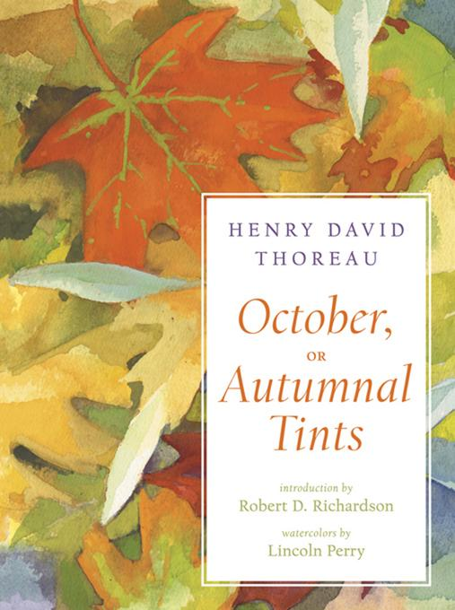 October, or Autumnal Tints EB9780393239652