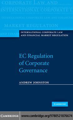 EC Regulation of Corporate Governance