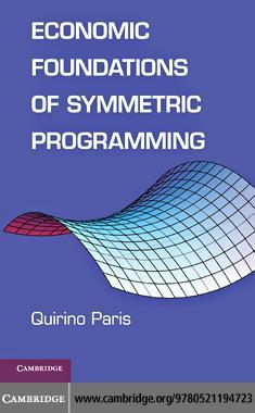 Economic Foundations of Symmetric Programming EB9780511855542