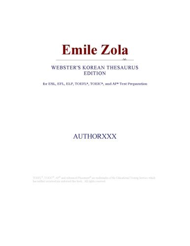 Emile Zola (Webster's Korean Thesaurus Edition) EB9780546397338