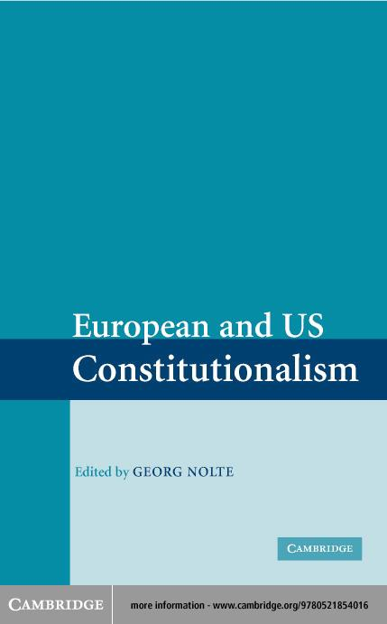 European and US Constitutionalism EB9780511128615