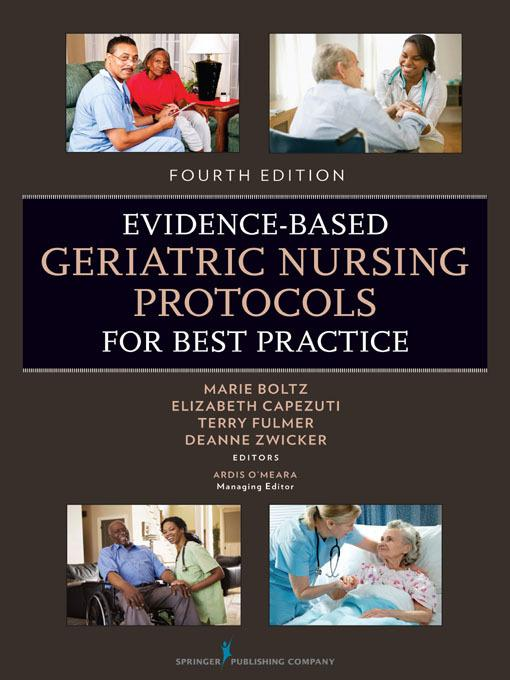 Evidence-Based Geriatric Nursing Protocols for Best Practice EB9780826171290