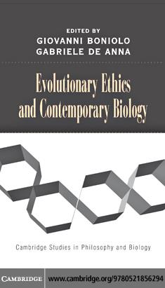 Evolutionary Ethics and Contemporary Biology EB9780511239656