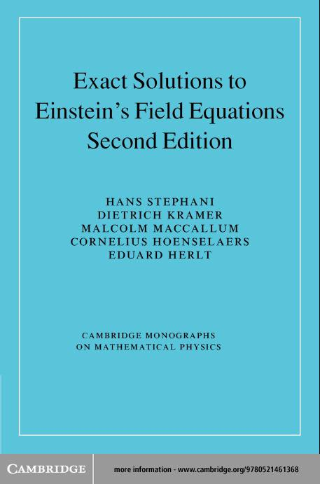 Exact Solutions of Einstein's Field Equations EB9780511059179
