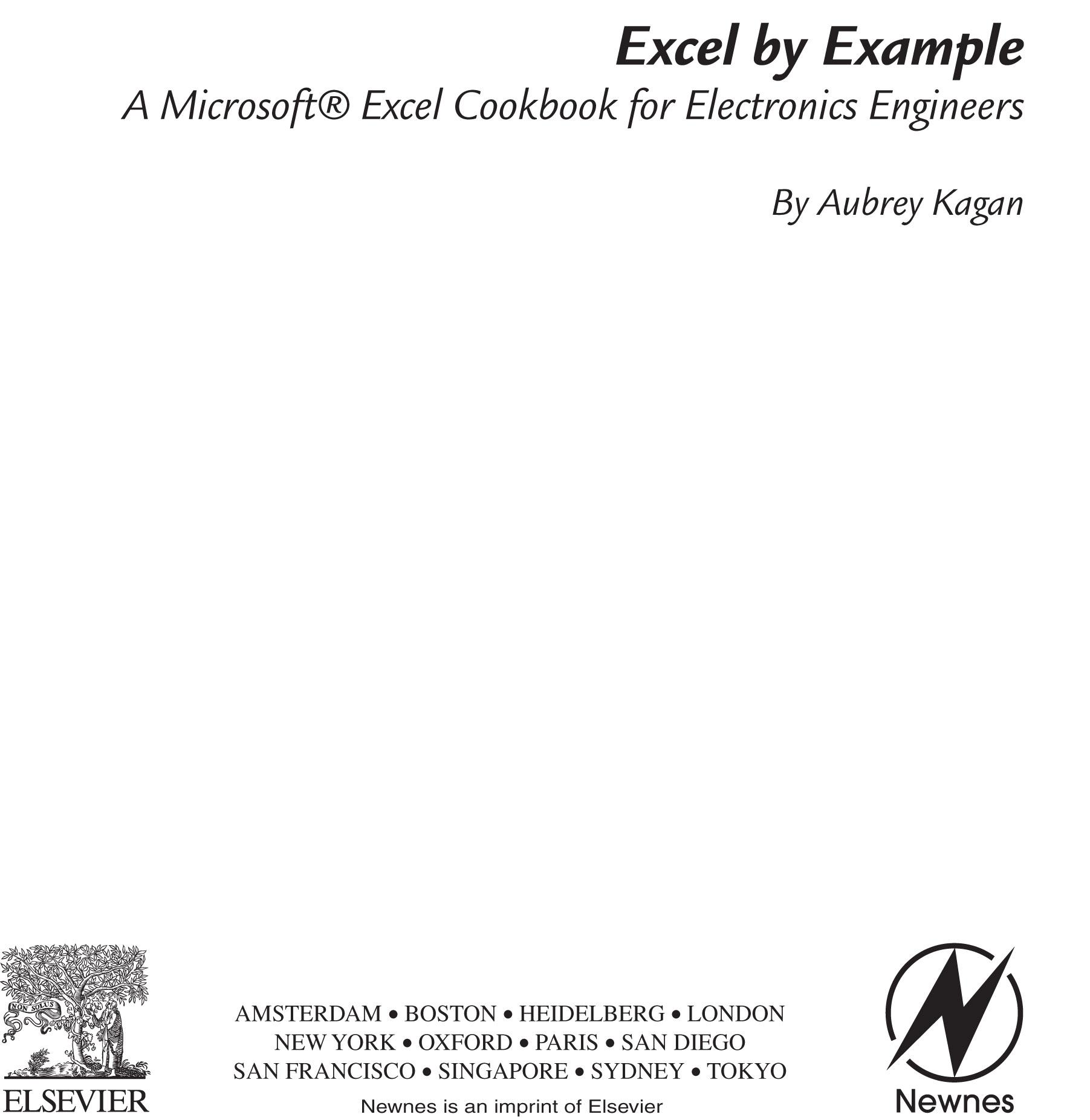 Excel by Example: A Microsoft Excel Cookbook for Electronics Engineers EB9780080477671