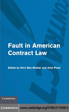 Fault in American Contract Law EB9780511796289