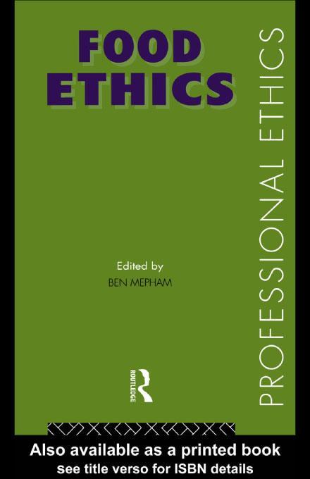 Food Ethics EB9780203206393