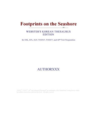 Footprints on the Seashore (Webster's Korean Thesaurus Edition) EB9780546393781