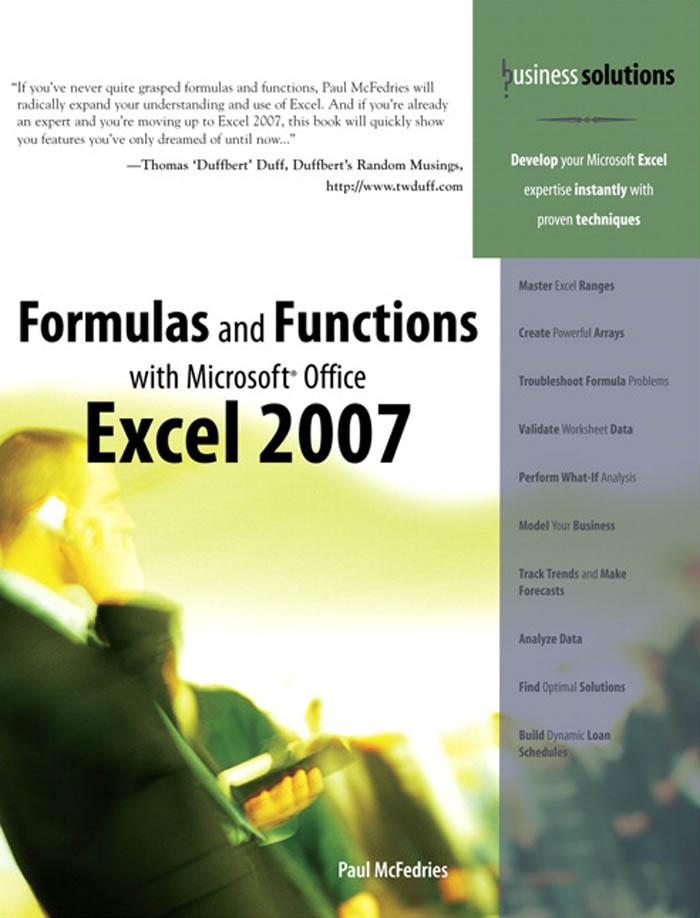 Formulas and Functions with Microsoft? Office Excel 2007 EB9780768674590