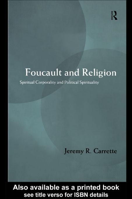 Foucault and Religion EB9780203457818