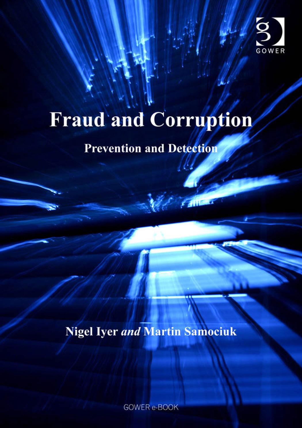 Fraud and Corruption: Prevention and Detection EB9780754682943