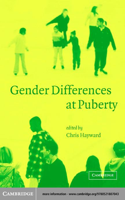 Gender Differences at Puberty EB9780511057502