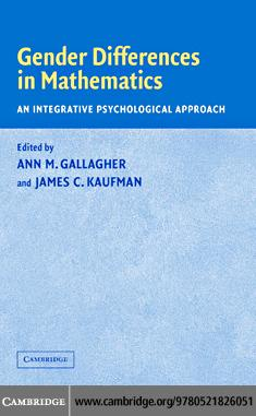 Gender Differences in Mathematics EB9780511222825