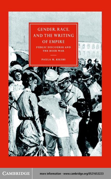Gender, Race, and the Writing of Empire EB9780511033162