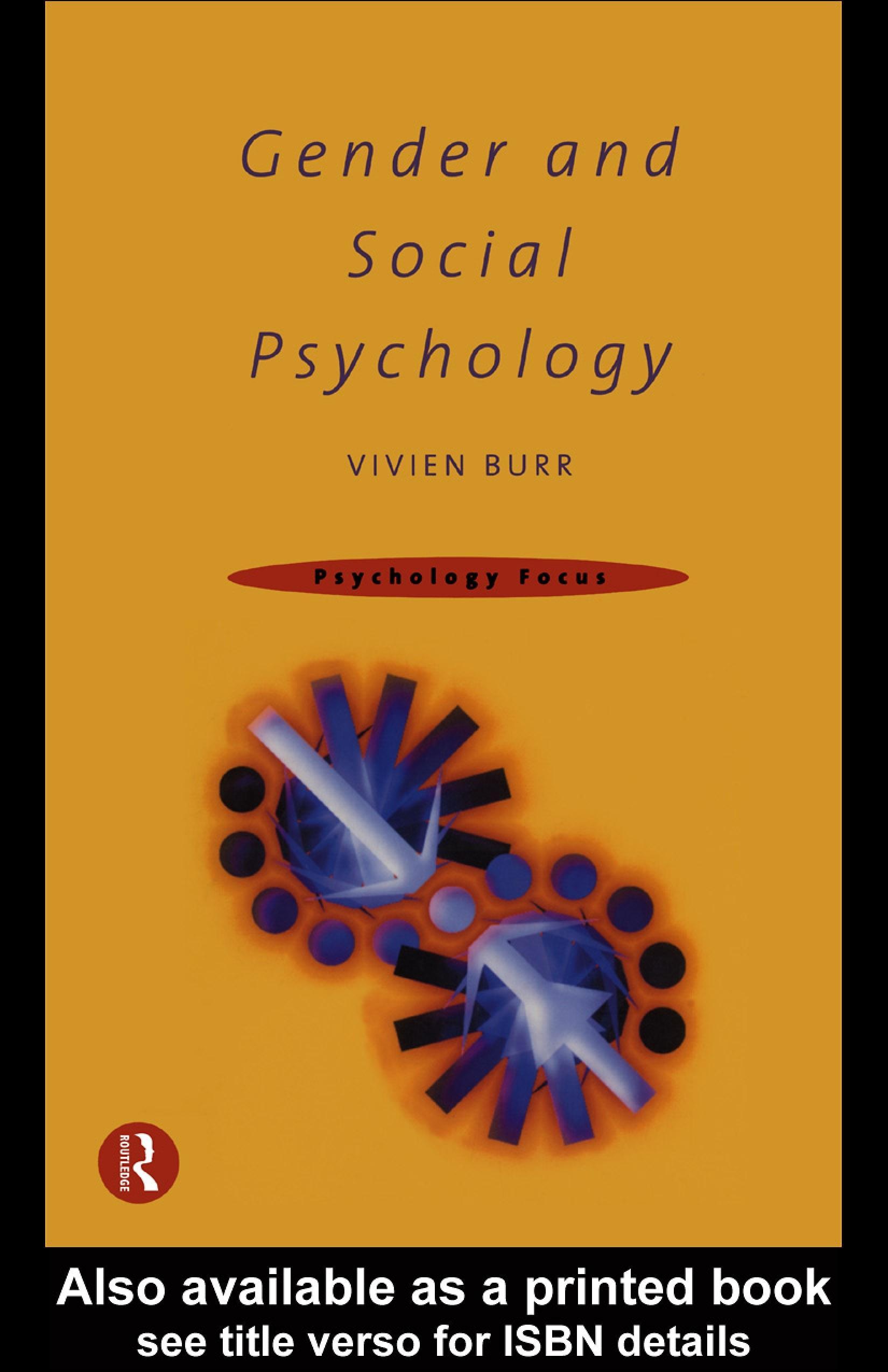Gender and Social Psychology EB9780203130414