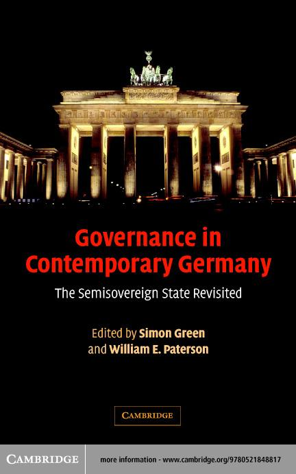 Governance in Contemporary Germany EB9780511123863