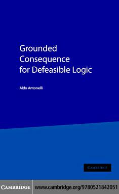 Grounded Cons Defeasible Logic EB9780511158902