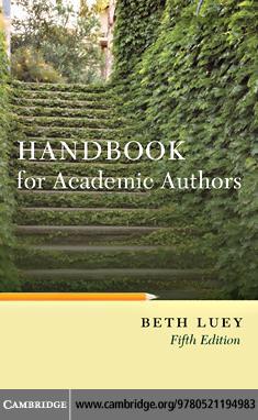 Handbook for Academic Authors EB9780511636981