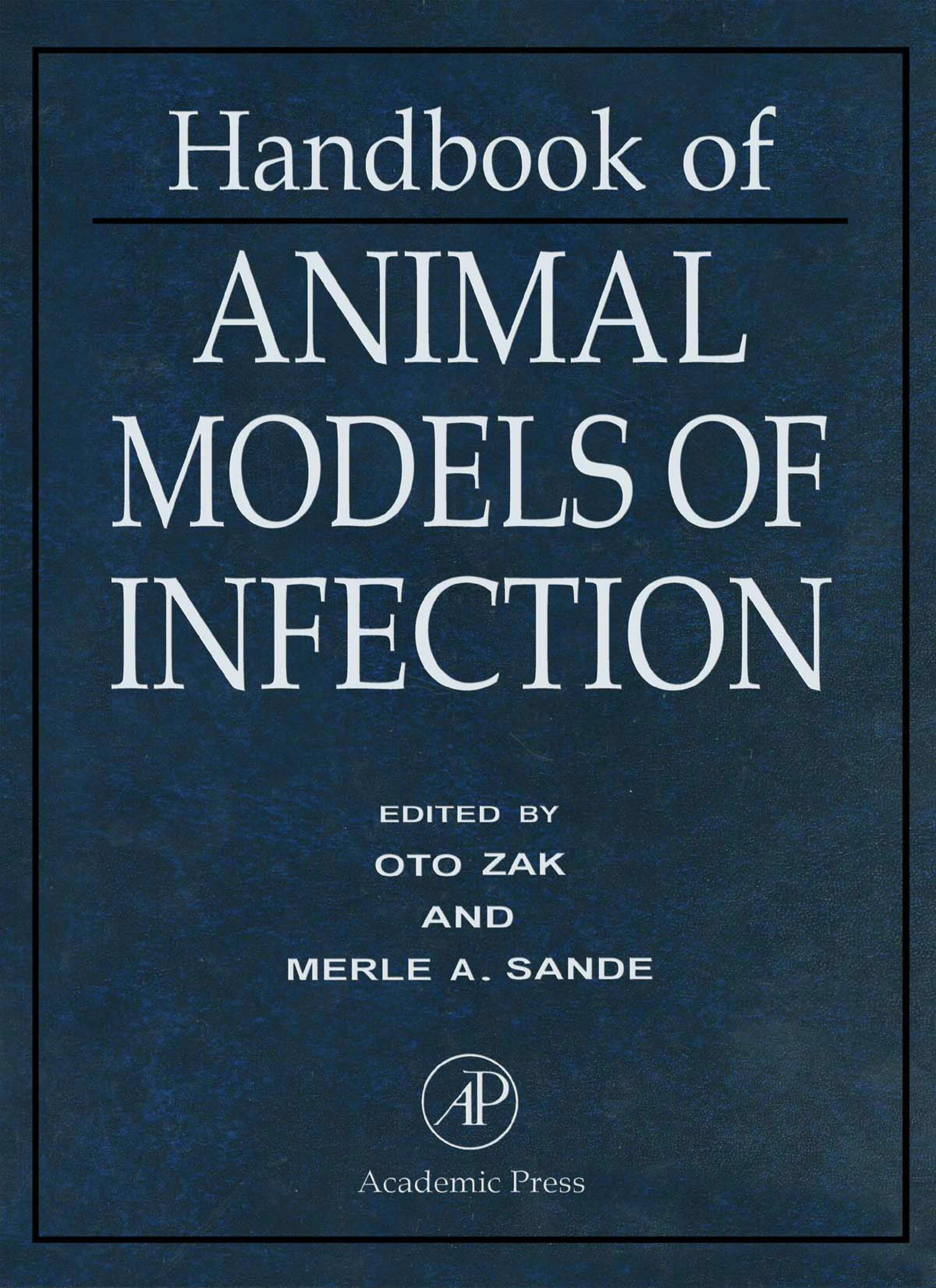 Handbook of Animal Models of Infection: Experimental Models in Antimicrobial Chemotherapy EB9780080533551