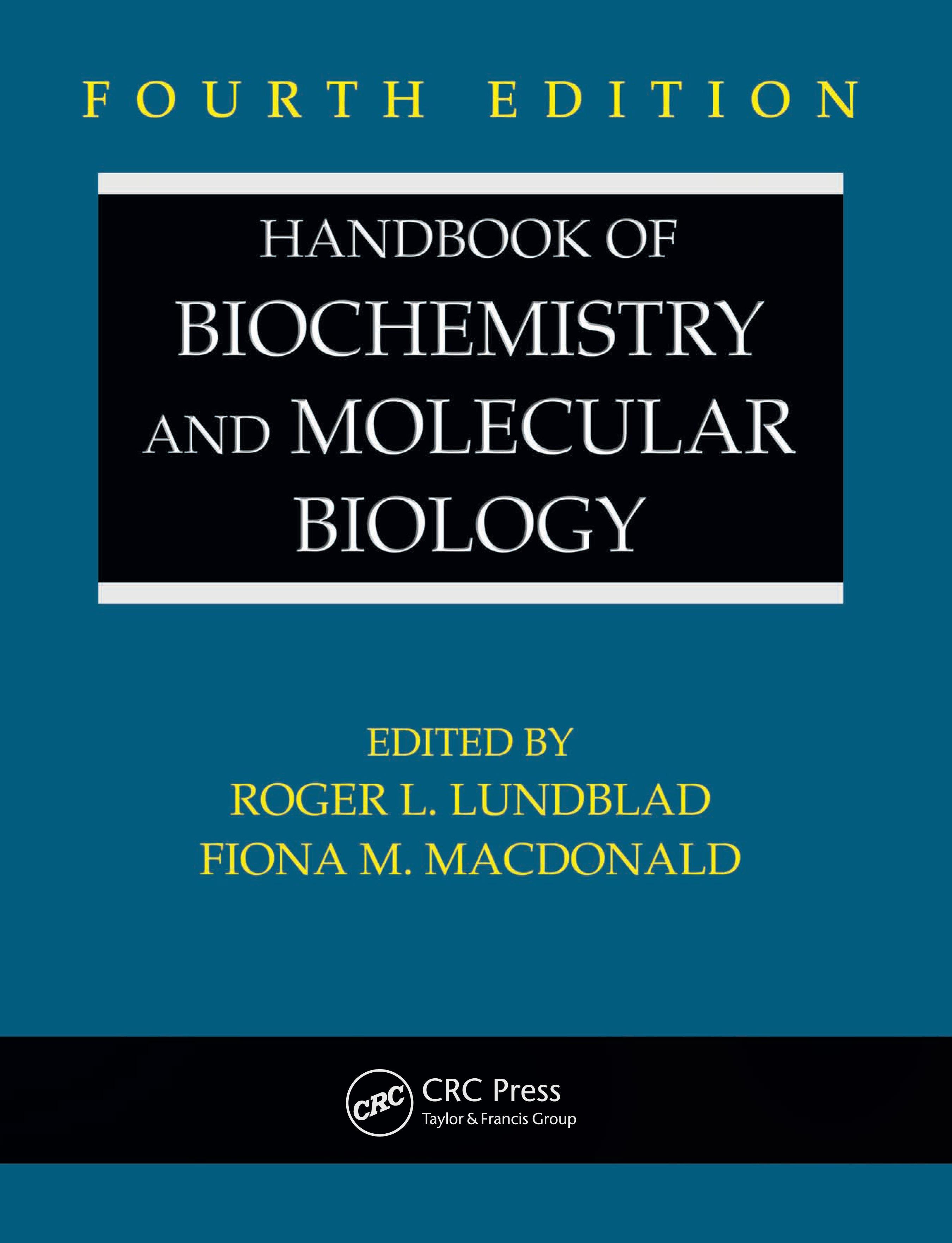Handbook of Biochemistry and Molecular Biology, Fourth Edition EB9780849391682