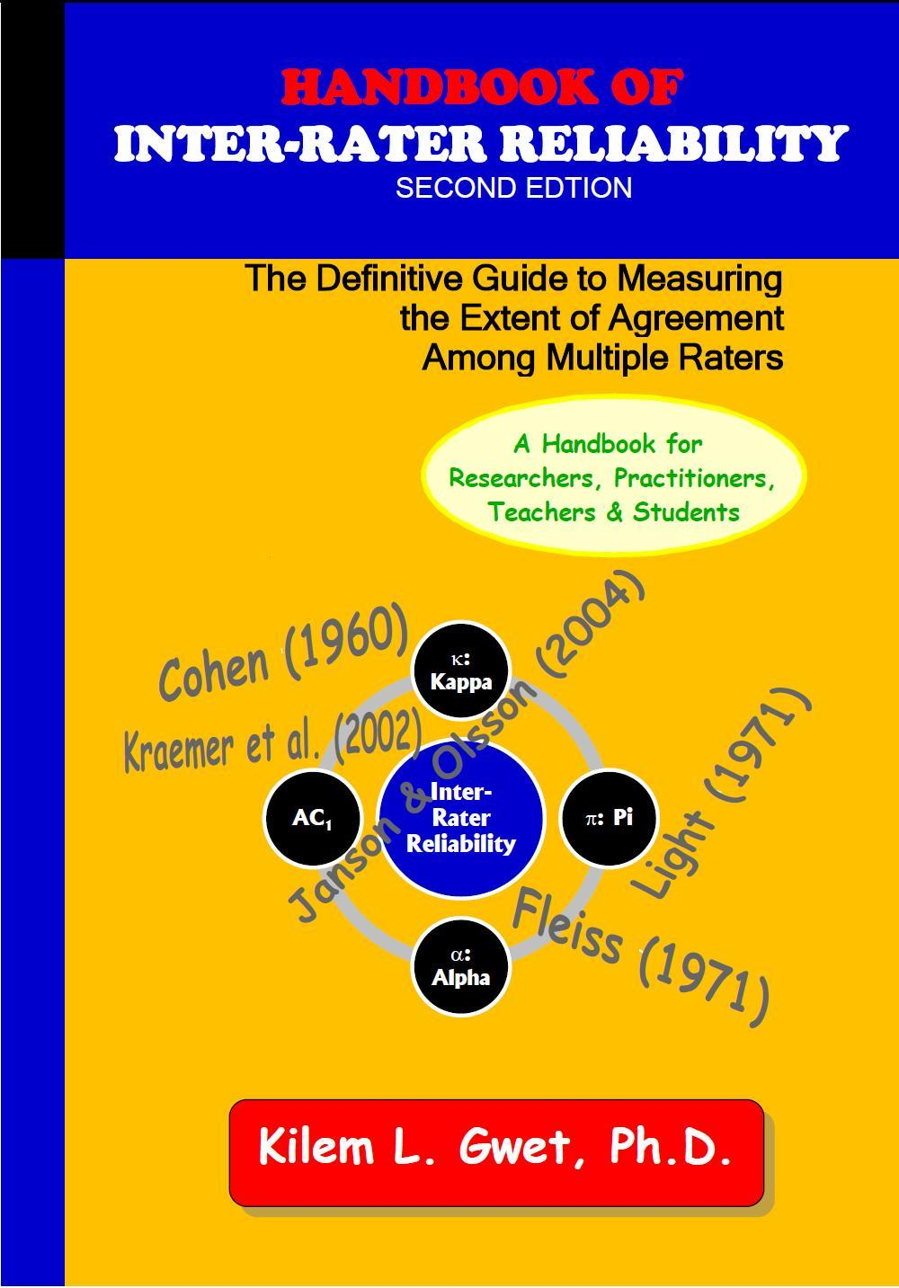 Handbook of Inter-Rater Reliability (Second Edition) EB9780970806253