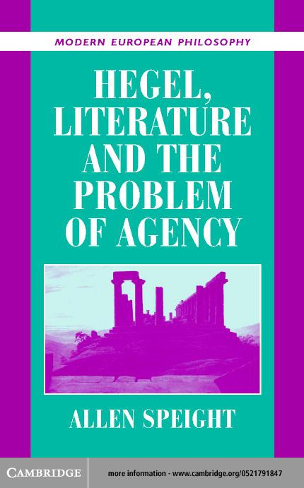 Hegel, Literature, and the Problem of Agency EB9780511031649