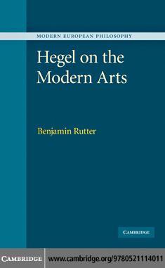 Hegel on the Modern Arts EB9780511903854