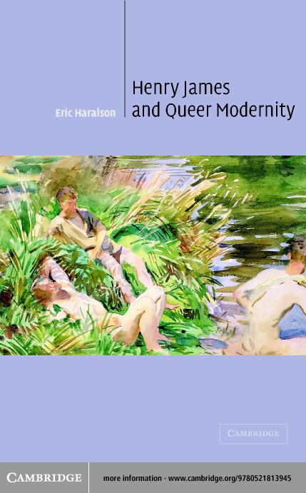 Henry James and Queer Modernity EB9780511058509