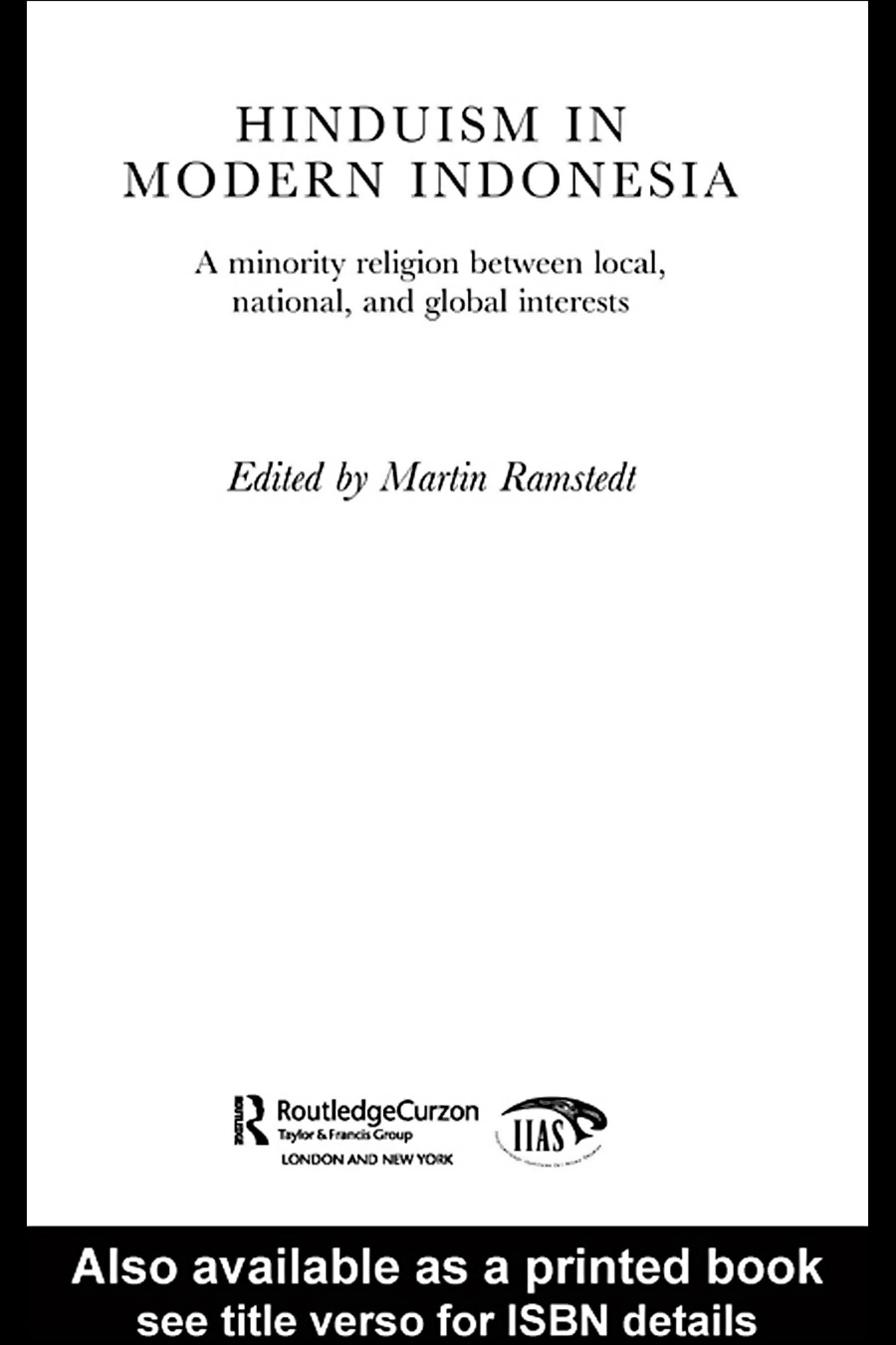 Hinduism in Modern Indonesia EB9780203987278