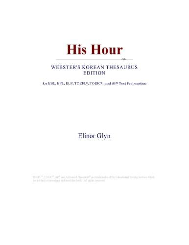 His Hour (Webster's Korean Thesaurus Edition) EB9780546830514
