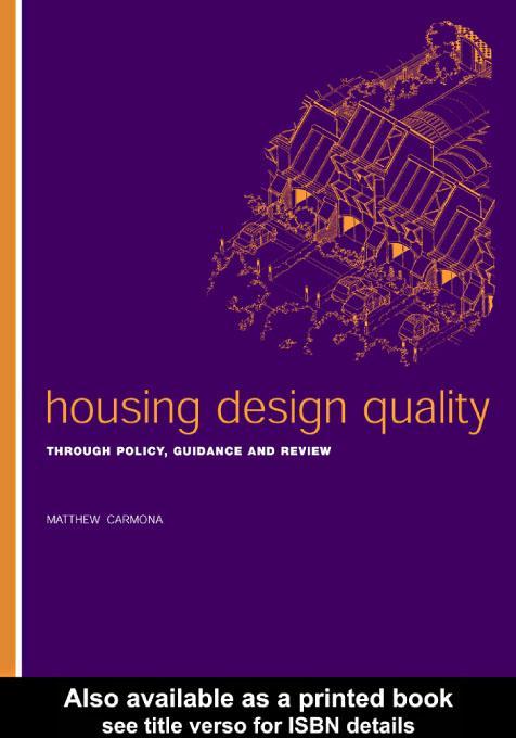 Housing Design Quality EB9780203187296