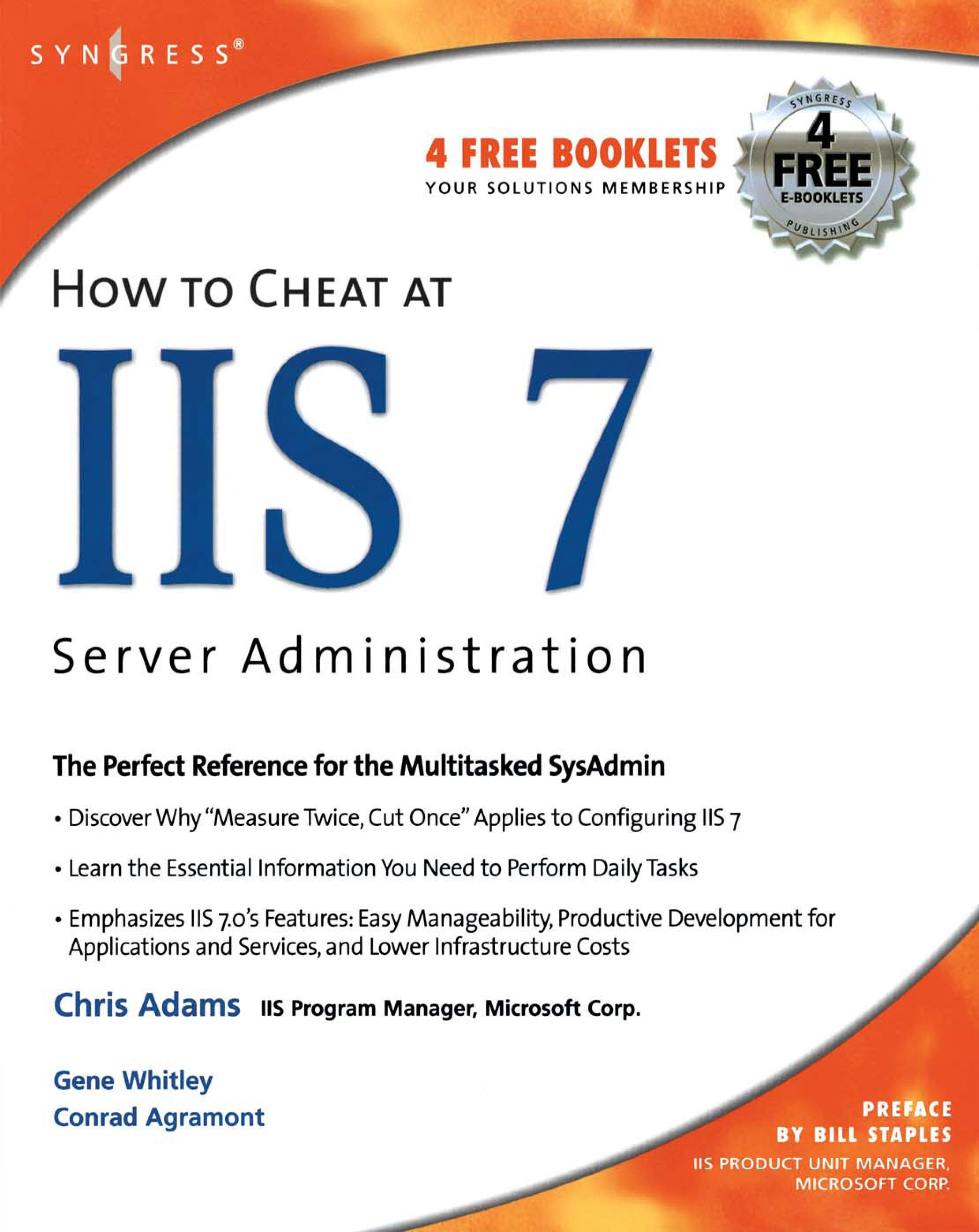How to Cheat at IIS 7 Server Administration EB9780080553542