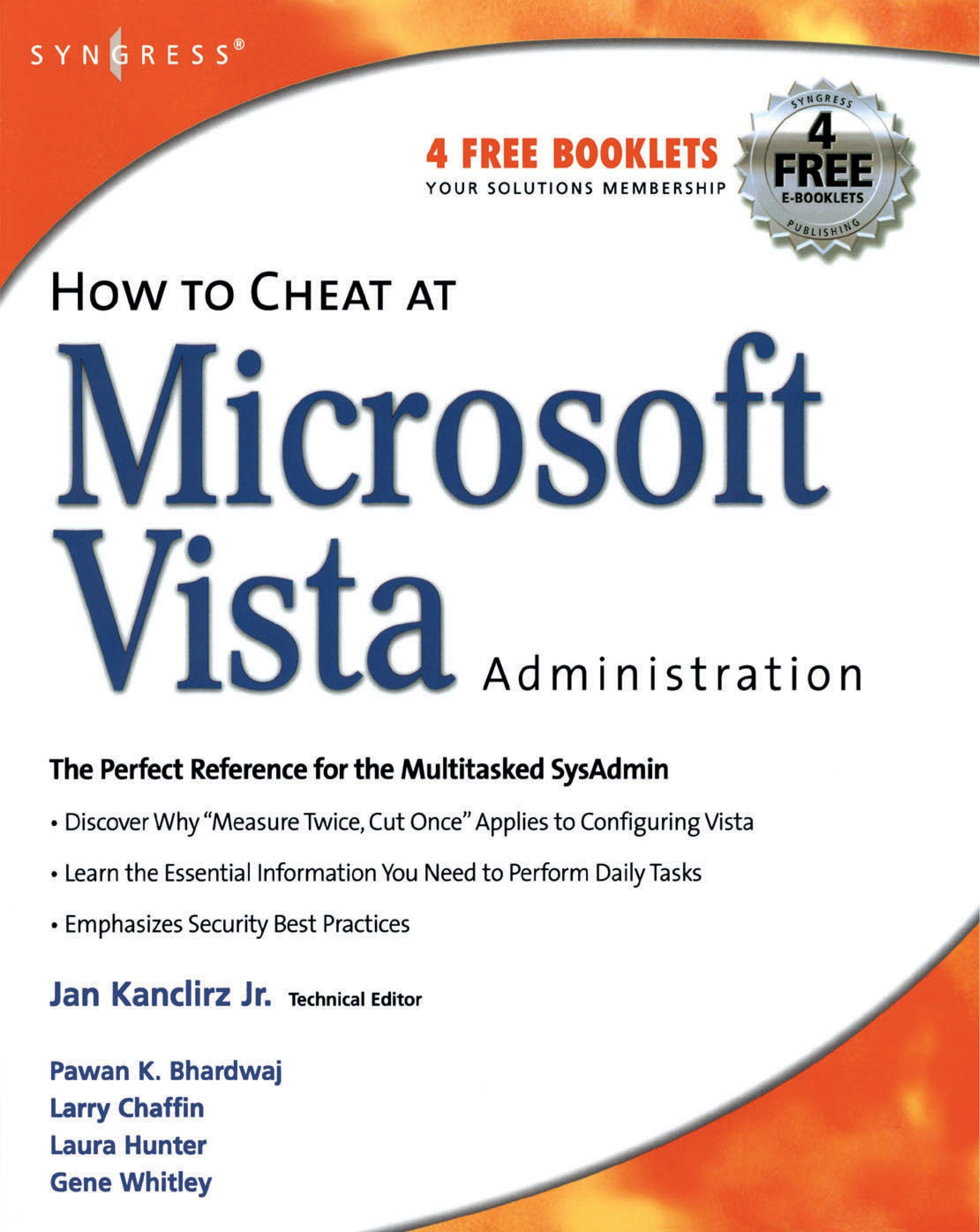 How to Cheat at Microsoft Vista Administration EB9780080553559