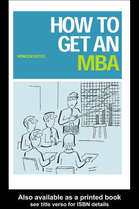 How to Get an MBA EB9780203184059