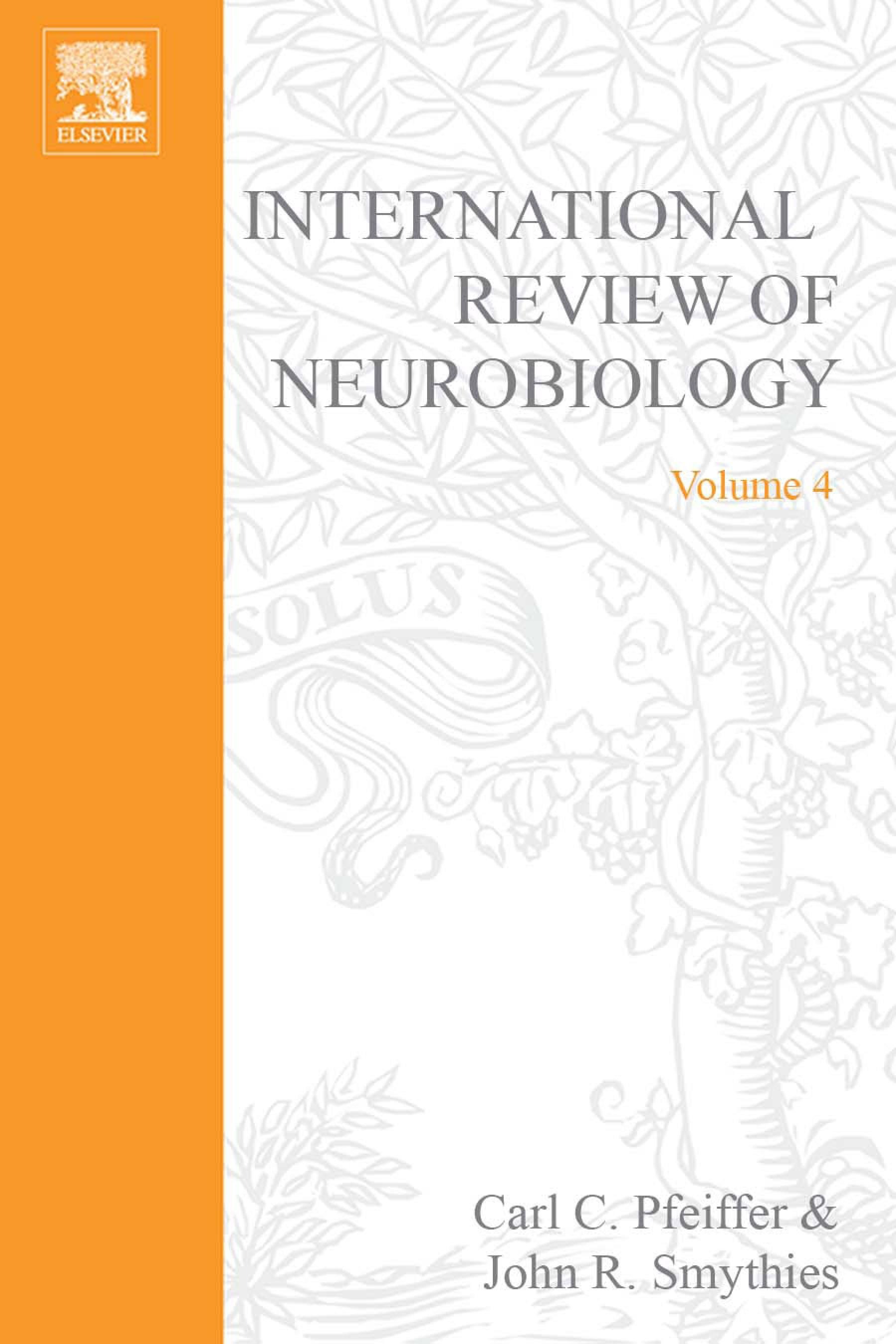 INTERNATIONAL REVIEW NEUROBIOLOGY V 4 EB9780080857381