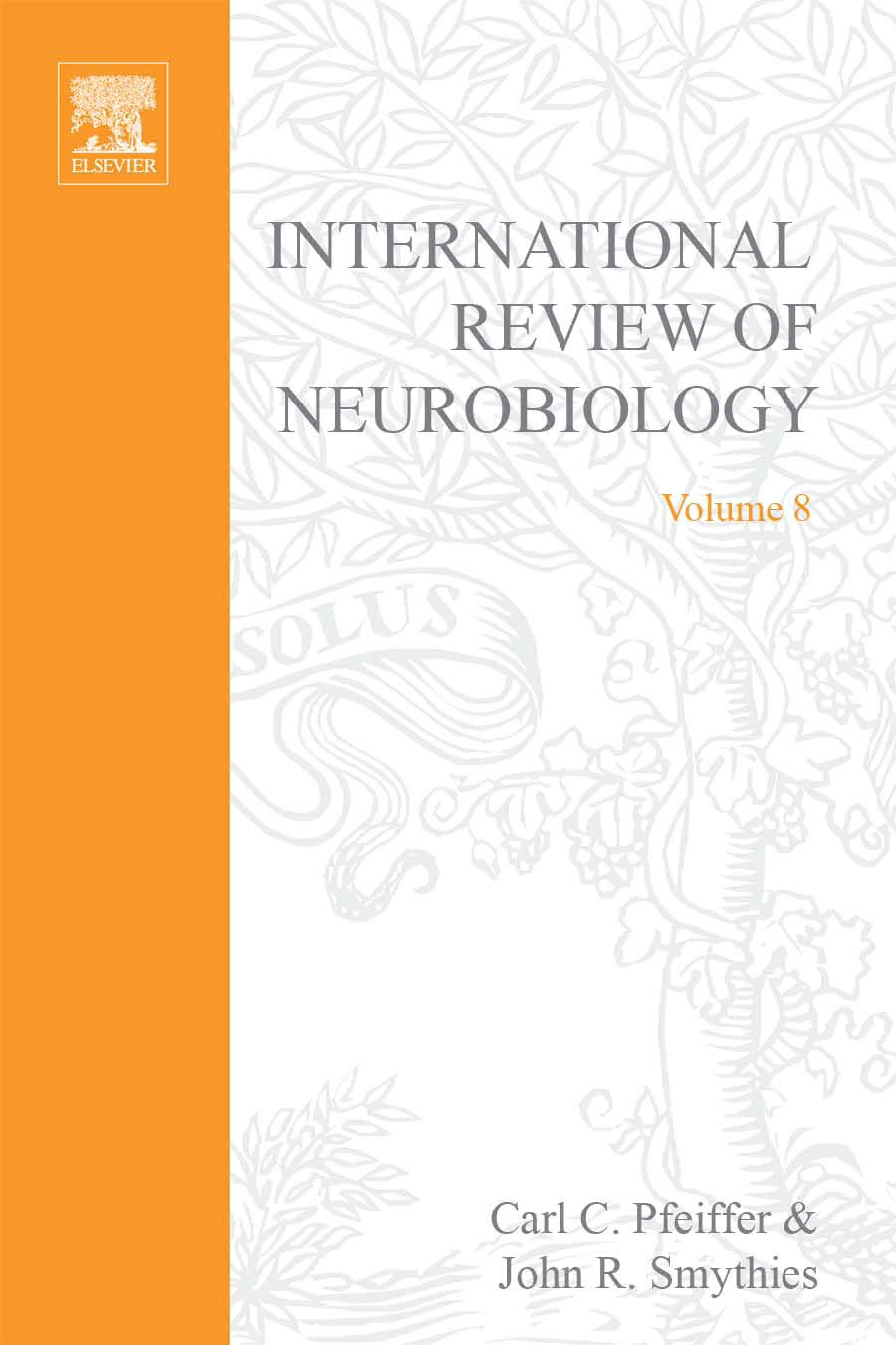 INTERNATIONAL REVIEW NEUROBIOLOGY V 8 EB9780080857428