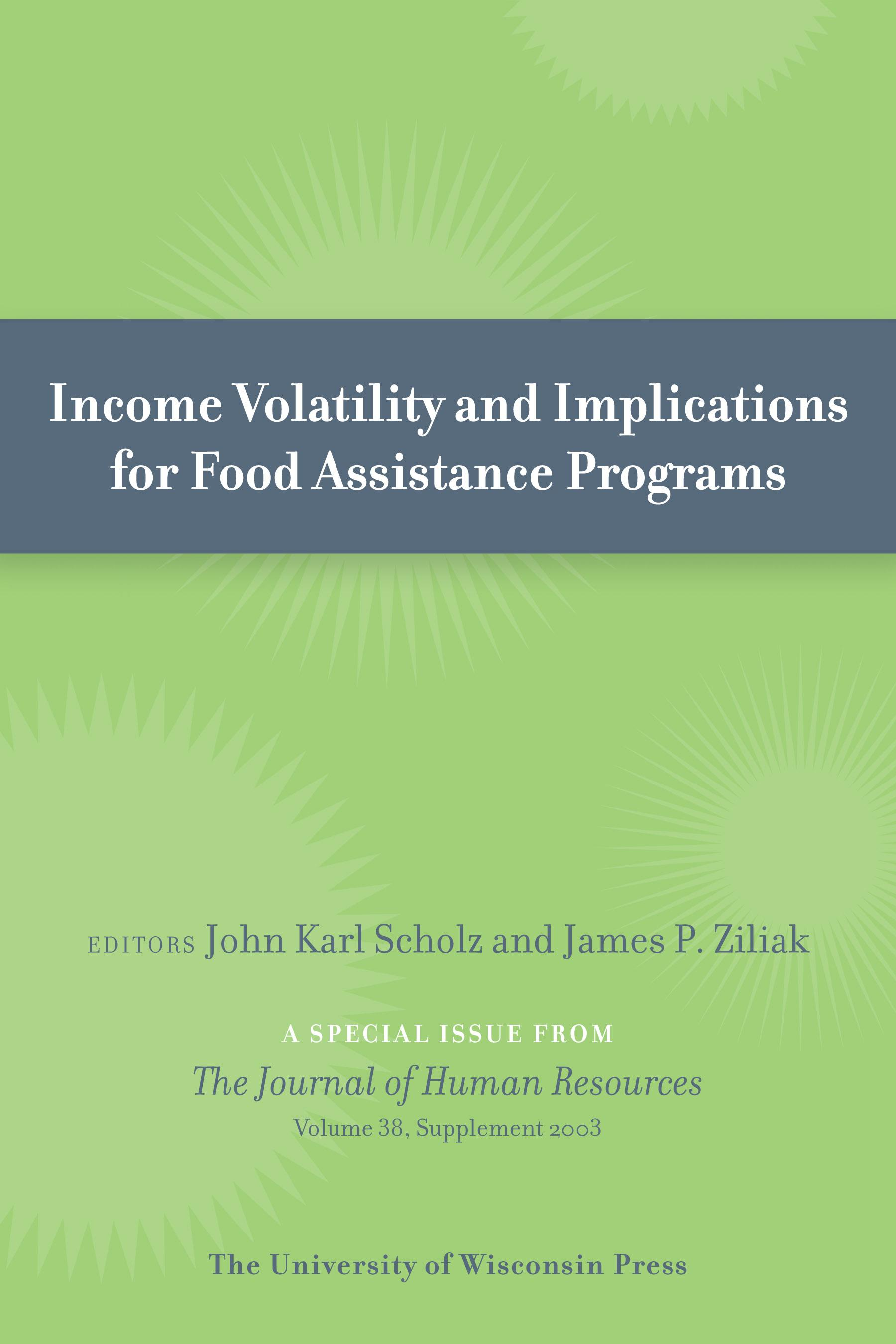 Income Volatility and Implications for Food Assistance Programs EB9780299237738