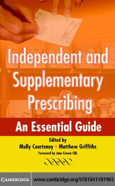 Independent and Supplementary Prescribing EB9780511261855