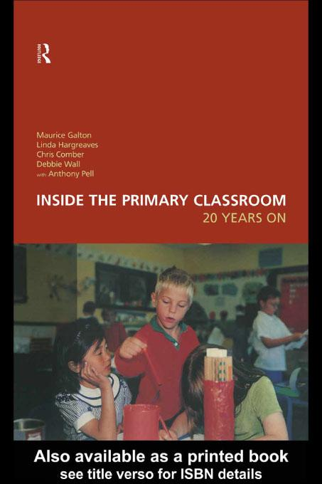 Inside the Primary Classroom: 20 Years On EB9780203161302