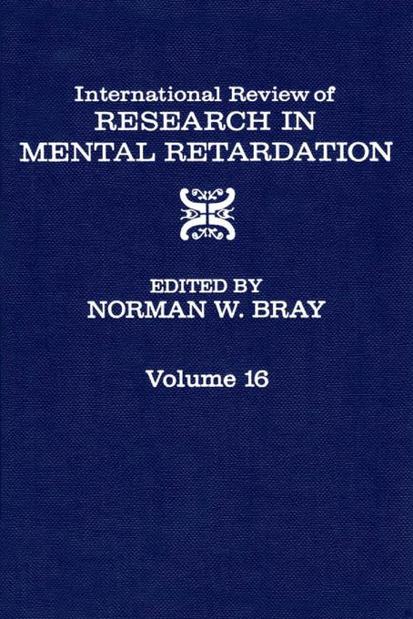 International Review of Research in Mental Retardation EB9780080857947
