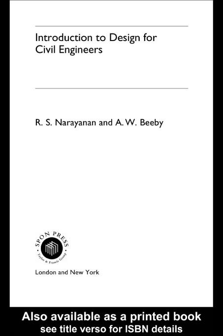 Introduction to Design for Civil Engineers EB9780203220122