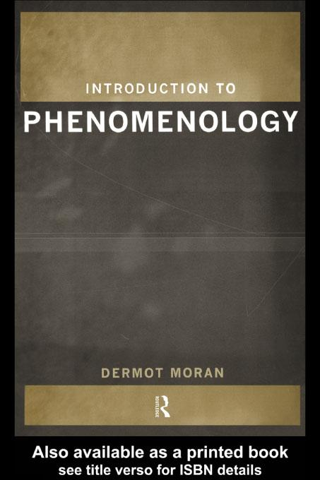 Introduction to Phenomenology EB9780203196632