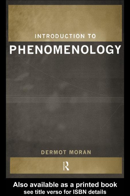 Introduction to Phenomenology EB9780203196632
