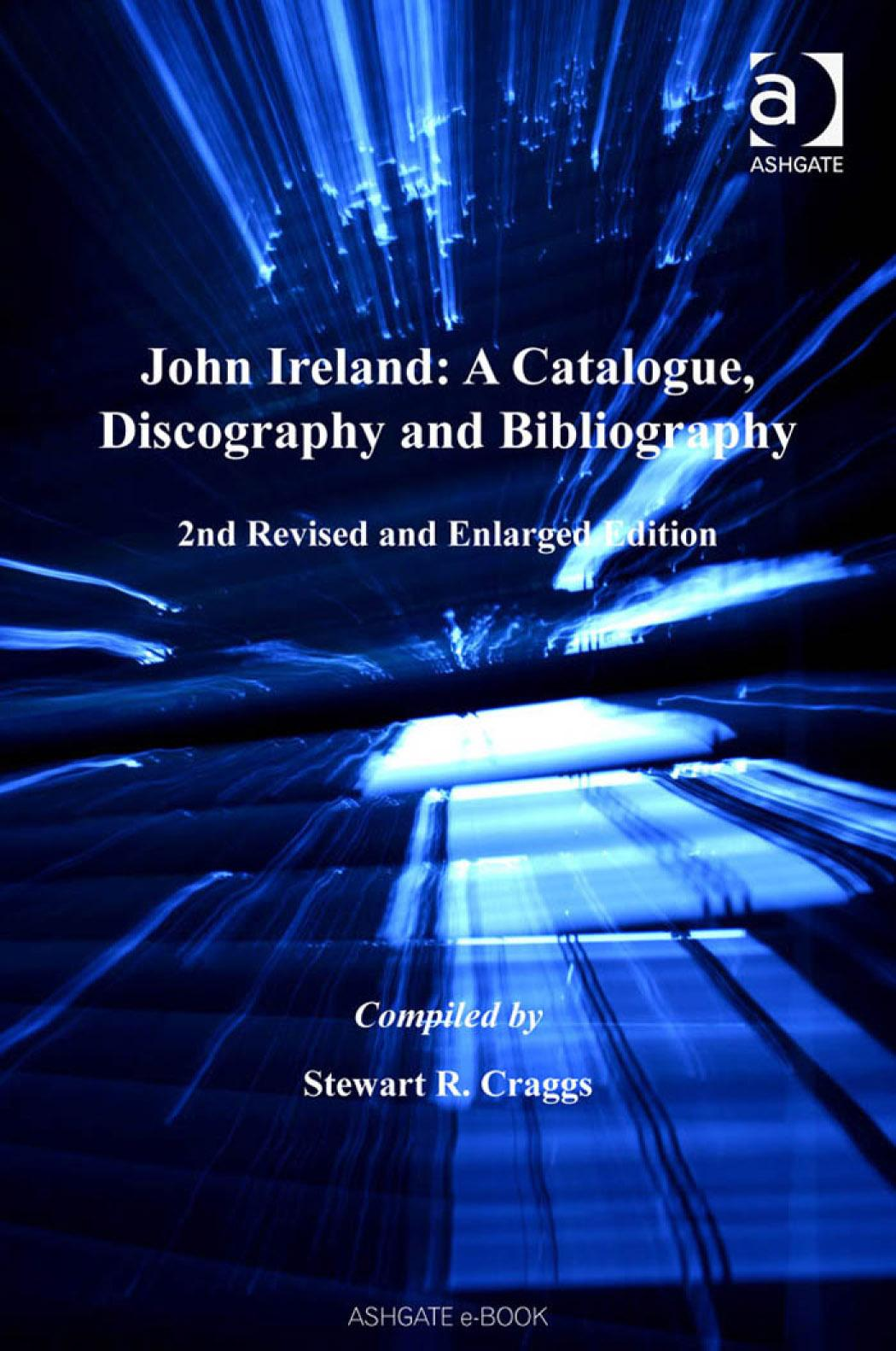 John Ireland: A Catalogue, Discography and Bibliography EB9780754686774