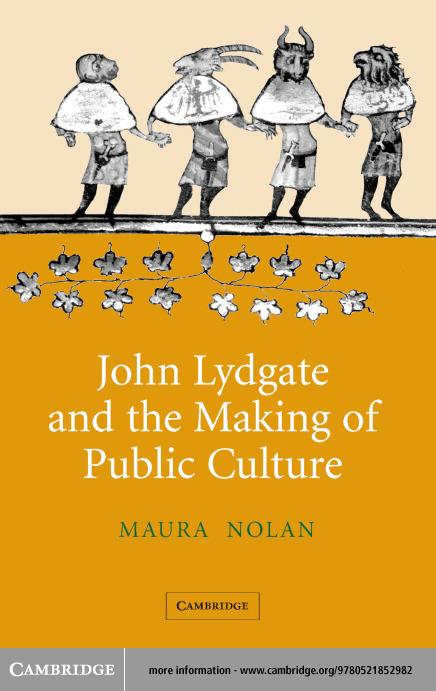 John Lydgate and the Making of Public Culture EB9780511126772