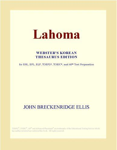 Lahoma (Webster's Korean Thesaurus Edition) EB9780546498936