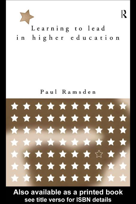 Learning to Lead in Higher Education EB9780203221464